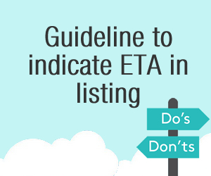 New guideline to indicate Estimated Arrival in listing