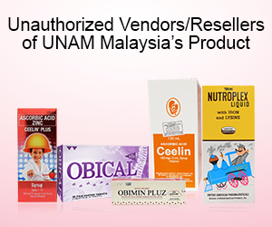 Unauthorized Vendors/Resellers of UNAM Malaysia's Product.