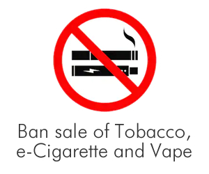Tobacco, e-Cigarette and Vape Ban in Lelong.my