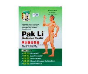 "Banned ""Pak Li medicated plaster"""