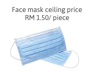 Face mask ceiling price