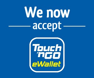 Touch 'n Go eWallet is on-board